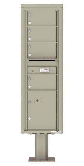 4C15S-04-P Commercial 4C Pedestal Mailboxes – 4 Tenant Doors 1 Parcel Locker