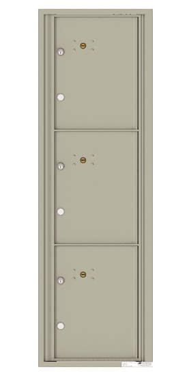 4C15S-3P Front Loading Private Use Commercial 4C Mailboxes – 3 Parcel Lockers