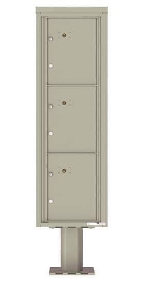 Commercial 4C Pedestal Mailboxes – 4C15S-3P-P Parcel Lockers – 3 Parcel Lockers