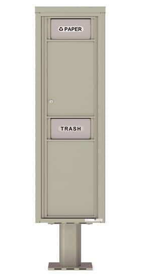 4C Pedestal Mailboxes 4C15S-Bin-P Trash and Recycling Bin Product Image