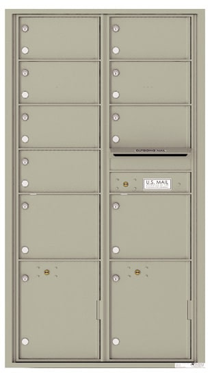 4C16D09 4C Horizontal Commercial Mailboxes