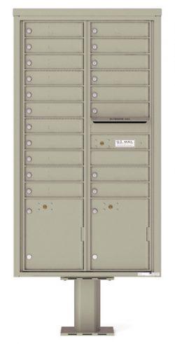 4C16D19-P Commercial 4C Pedestal Mailboxes
