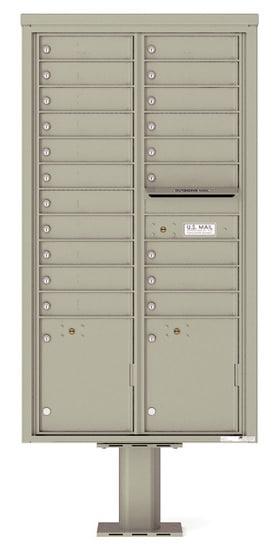 4C16D20-P Commercial 4C Pedestal Mailboxes