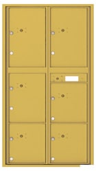 Florence 4C Mailboxes 4C16D-6P Gold Speck