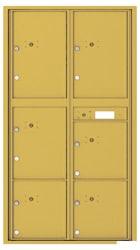 Florence 4C Mailboxes 4C16D-6P Gold Speck