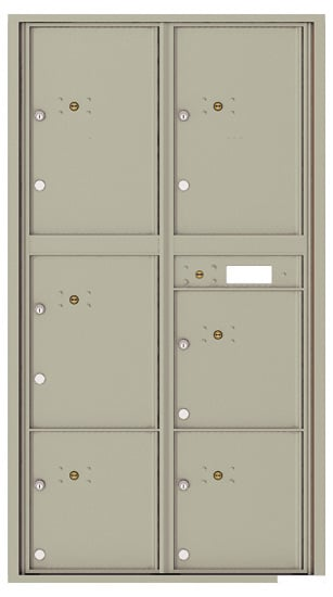 4C16D-6P Front Loading Private Use Commercial 4C Parcel Lockers – 6 Parcel Lockers