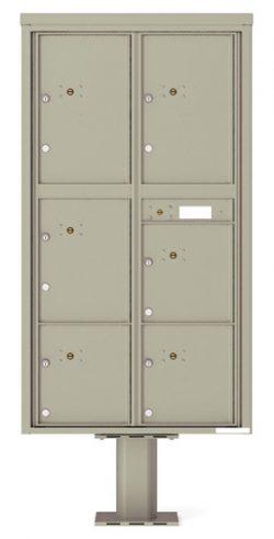 4C16D6P Parcel Lockers 4C Pedestal Mailboxes