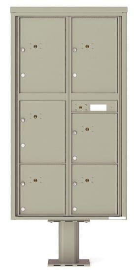 Commercial 4C Pedestal Mailboxes – 4C16D-6P-P Parcel Lockers – 6 Parcel Lockers