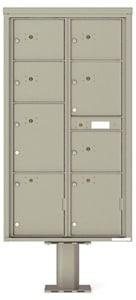 Florence 4C Pedestal 4C16D-8P-P Postal Grey