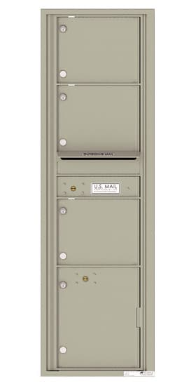 4C16S-03 Front Loading Commercial Surface Mount 4C Mailboxes – 3 Tenant Doors 1 Parcel Locker