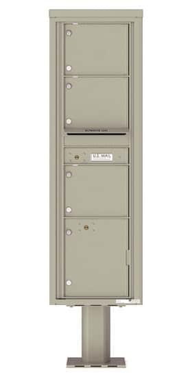 4C16S-03-P Commercial 4C Pedestal Mailboxes – 3 Tenant Doors 1 Parcel Locker