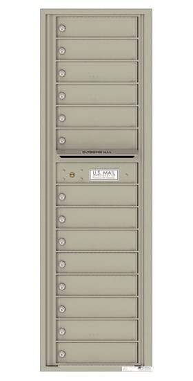 4C16S-14 Front Loading Private Use Commercial 4C Mailboxes – 14 Tenant Doors