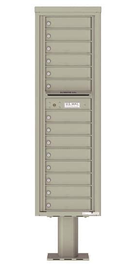 4C16S14-P Commercial 4C Pedestal Mailboxes