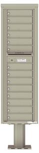 Florence 4C Pedestal 4C16S-14-P Postal Grey