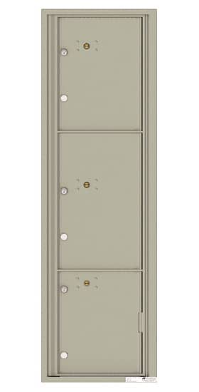 4C16S-3P Front Loading Commercial Surface Mount 4C Parcel Lockers – 3 Parcel Lockers