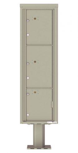4C16S3P Parcel Lockers 4C Pedestal Mailboxes