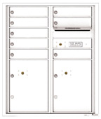 Florence 4C Mailboxes 4CADD-08 White