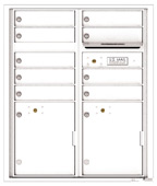 Florence 4C Mailboxes 4CADD-09 White