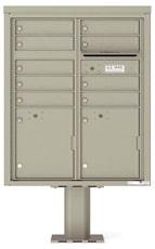 Florence 4C Pedestal 4CADD-09-P Postal Grey
