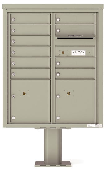 4CADD10-P Commercial 4C Pedestal Mailboxes