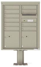 Florence 4C Pedestal 4CADD-10-P Postal Grey