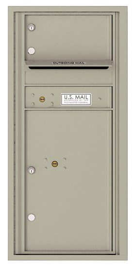 4CADS-01 Front Loading Commercial Surface Mount 4C Mailboxes – 1 Tenant Door 1 Parcel Locker