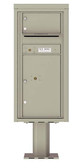 4CADS-01-P Commercial 4C Pedestal Mailboxes – 1 Tenant Door 1 Parcel Locker