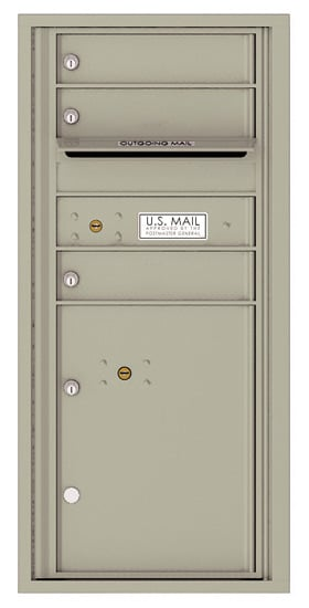 4CADS-03 Front Loading Commercial Surface Mount 4C Mailboxes – 3 Tenant Doors 1 Parcel Locker