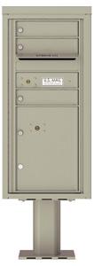 Florence 4C Pedestal 4CADS-03-P Postal Grey