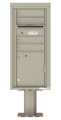 4CADS04-P Commercial 4C Pedestal Mailboxes