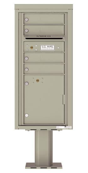 4CADS-04-P Commercial 4C Pedestal Mailboxes – 4 Tenant Doors 1 Parcel Locker Product Image