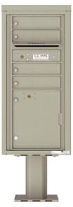 Florence 4C Pedestal 4CADS-04-P Postal Grey