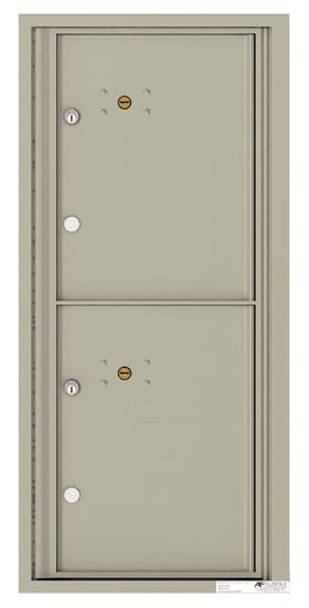 4CADS-2P Front Loading Commercial Surface Mount 4C Parcel Lockers – 2 Parcel Lockers