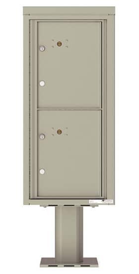 Commercial 4C Pedestal Mailboxes – 4CADS-2P-P Parcel Lockers – 2 Parcel Lockers Product Image