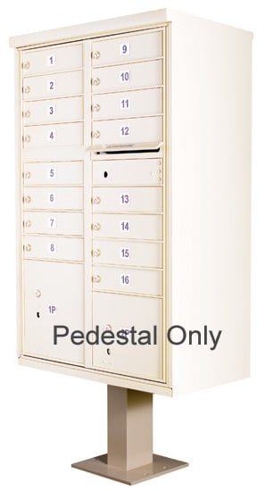 Replacement Pedestal for 13-16 Door CBU Cluster Box Units