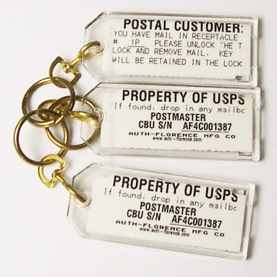Parcel Key Tag Florence 4C Mailboxes