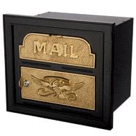Gaines Classic Faceplate Mailbox Black Brass