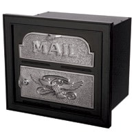 Gaines Classic Faceplate Mailbox Black Nickel