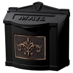 Gaines FleurDeLis Wall Mount Black Bronze