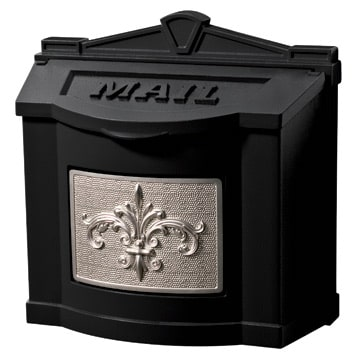 Gaines Fleur De Lis Locking Wall Mount Mailbox