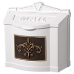 Gaines FleurDeLis Wall Mount White Bronze