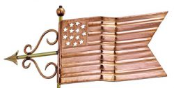Good Directions American Flag Weathervane Details
