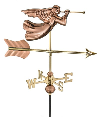 Good Directions Copper Angel Cottage Weathervane