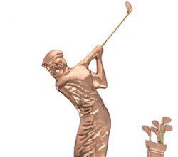 Good Directions Golfer Weathervane Details