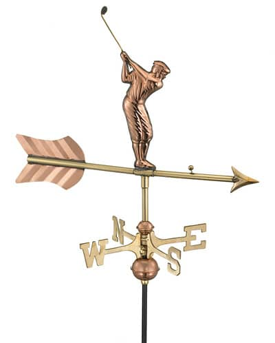 Good Directions Copper Golfer Cottage Weathervane
