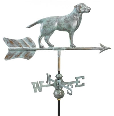 Good Directions Copper Labrador Cottage Weathervane