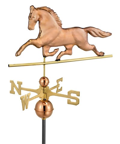 Good Directions Copper Patchen Horse Weathervane