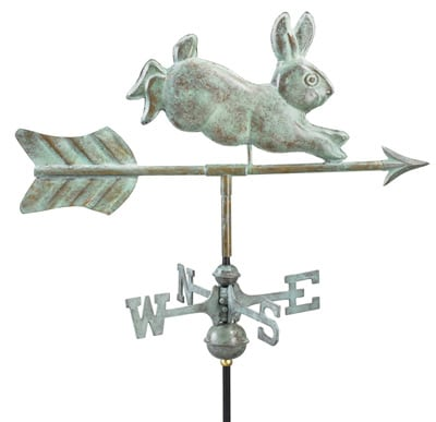 Good Directions Copper Rabbit Cottage Weathervane