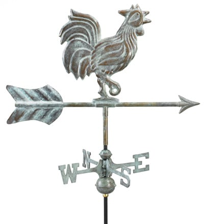 Good Directions Copper Rooster Cottage Weathervane