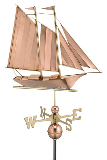 Good Directions Copper Schooner Weathervane